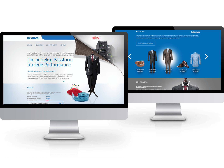 nmf. Online-Kampagne für Fujitsu & Ingram