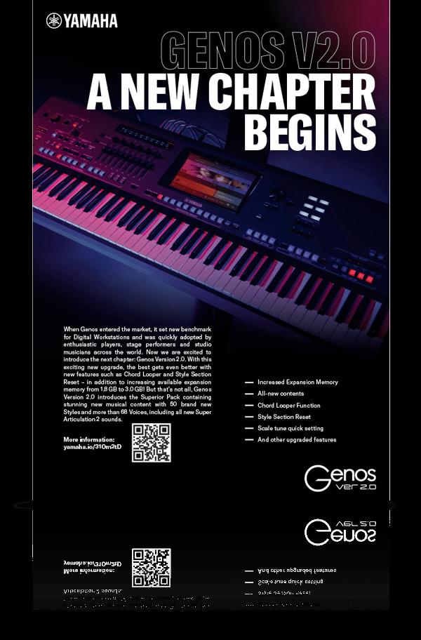 nmf Kampagnenanzeige für Yamaha Genos